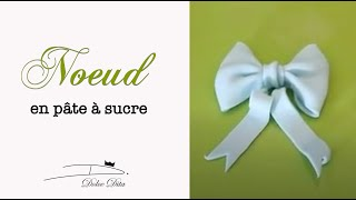 Tutoriels et Astuces pâte à sucre: Le Noeud / How to make a fondant bow