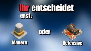 ERST MAUERN ODER DEFF?!|CLASH OF CLANS DEUTSCH