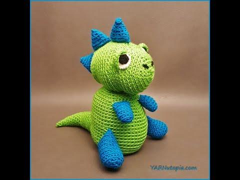 Crochet Tutorial: Spike the T-Rex Dinosaur Amigurumi