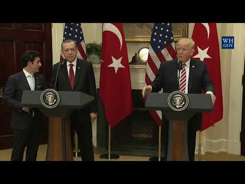 President Trump Gives Joint Statements with President Erdogan