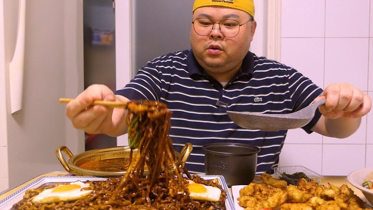 편집자입니다. 미노님 논란에 대해 솔직히 말씀드리고자 합니다._혼밥가이드 먹방 Mukbang [Black Bean Noodle Ramen,sweet and Sour Pork]