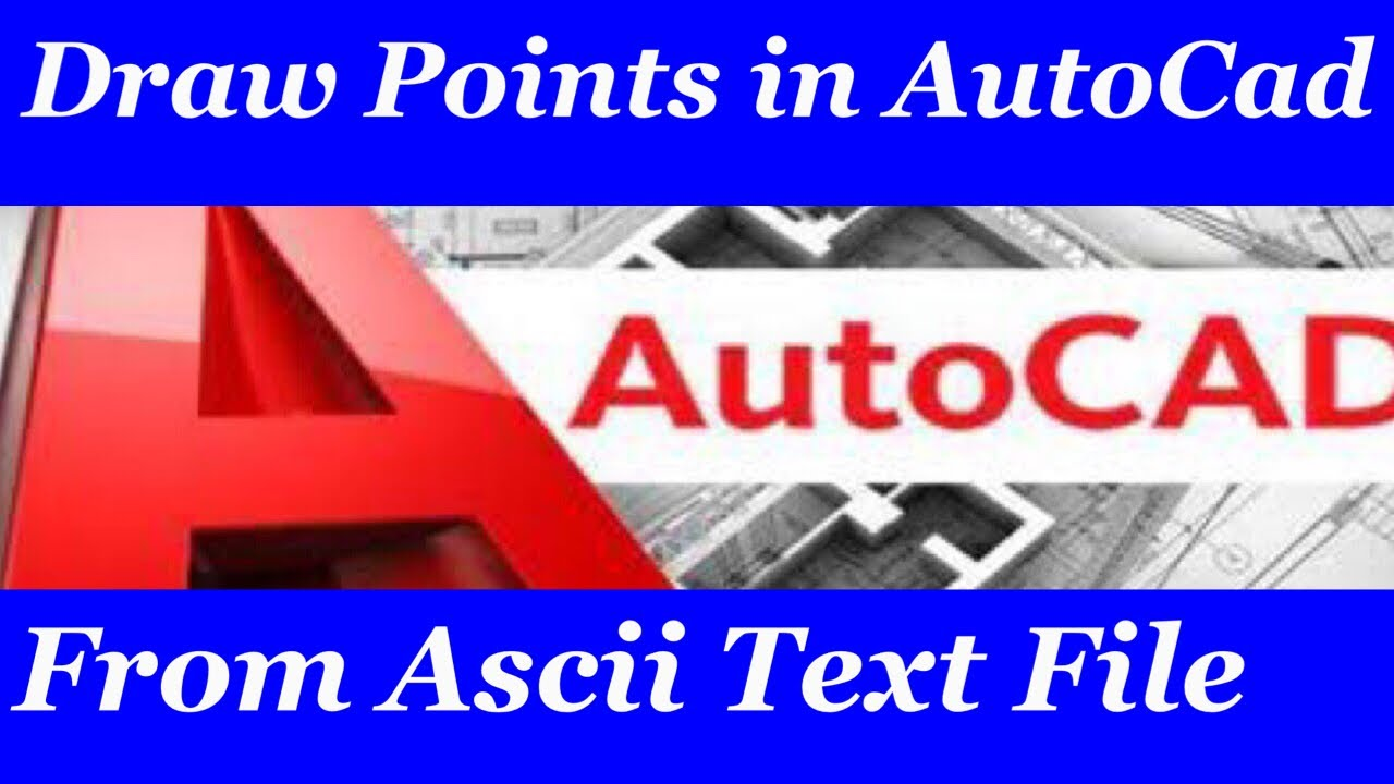 How to Import X,Y coordinates from Excel to AutoCad - Land