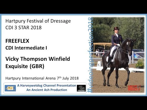 HARTPURY FESTIVAL OF DRESSAGE: Vicky Thompson Winfield and Exquisite