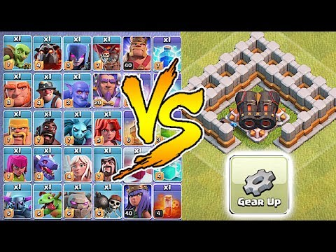 ALL TROOPS VS. GEARED UP CANNON!! | WHO WILL WIN!?! | Clash Of Clans