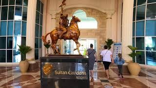 Обзор территории отеля Sultan Gardens Египет Шарм Эль Шейх во время карантина март 2021