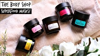 The Body Shop Superfood Face Masks  corallista