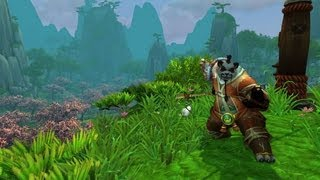 World of Warcraft Mists of Pandaria - Pandaren Starting zone - Monk first 5 levels (Gameplay 1080p)