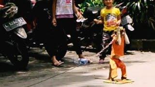 Aksi Monyet Lucu di Taman Bungkul Surabaya