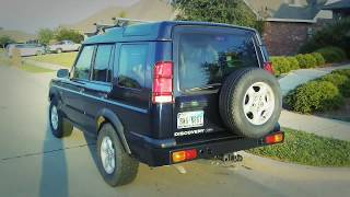 2000 Land Rover Discovery II stock with steel bumpers