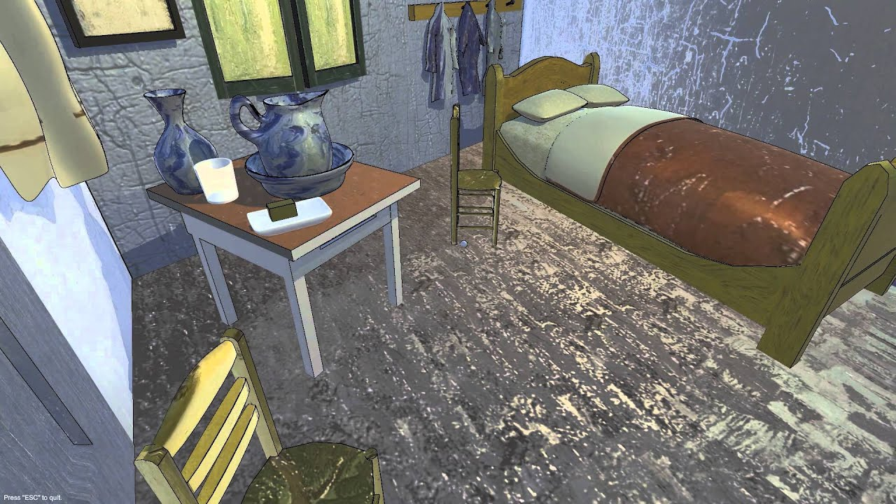 "van gogh's ""bedroom in arles"" - prototype - youtube"