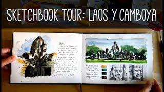 Sketchbook tour Laos & Cambodia