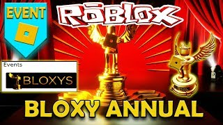 ANNUAL BLOXYS AWARDS EVENT 🌟 ROBLOX AWARDS AND NOMINATIONS 2019