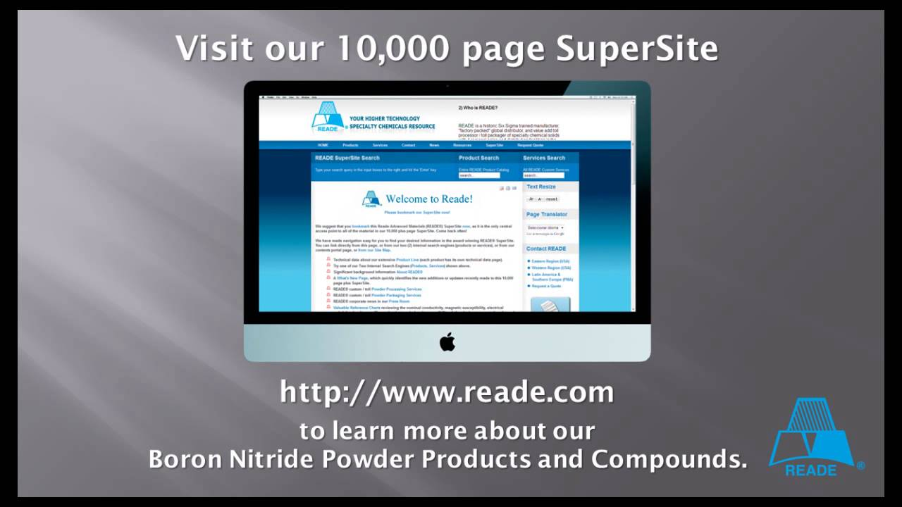 Boron nitride powder from reade