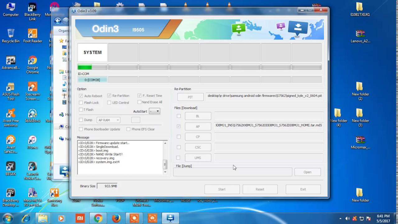 Samsung S7562 Flashing Done With Odin3 V3 09