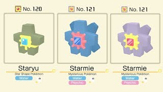 Pokemon Quest: Shiny Staryu Evolves Into Shiny Starmie | Pokemon Staryu Evolution