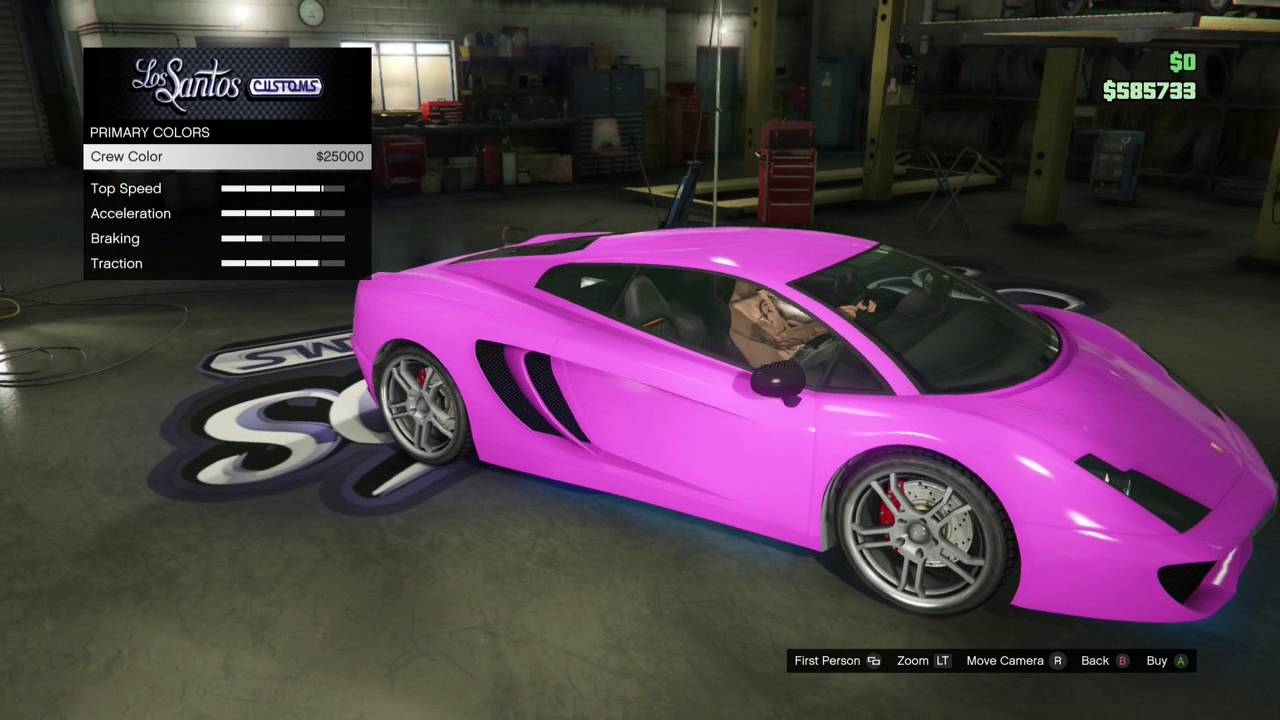 How To Get The Joker S Purple Lambo In Gta V Youtube