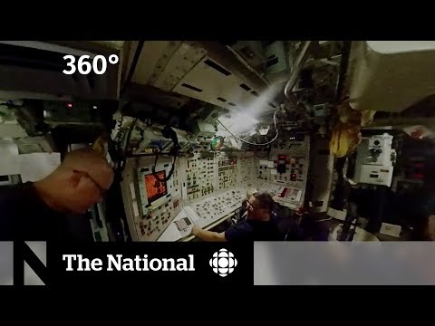 Inside the control room of a Canadian submarine [360]