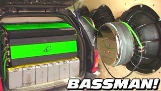 BASSMAN's JEEP CHOKES YOU w/ 24,000 Watts of POWER! BIGGEST Crescendo Amplifier EVER | Encore 12k