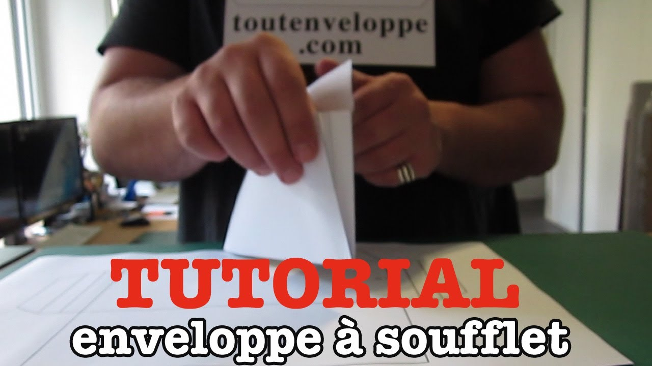 comment faire une enveloppe en papier soufflet en papier youtube. Black Bedroom Furniture Sets. Home Design Ideas