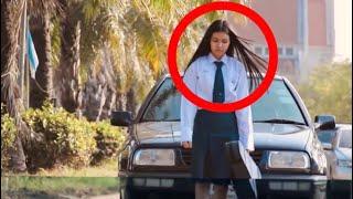 لم يكن يعلم سائق السيارة بان هذه الطالبة صماء لا تسمع .. و بعدها كانت المفاجئة !!