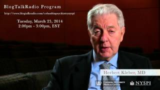 BlogTalkRadio program with Herbert Kleber, MD- Tuesday, March 25, 2014