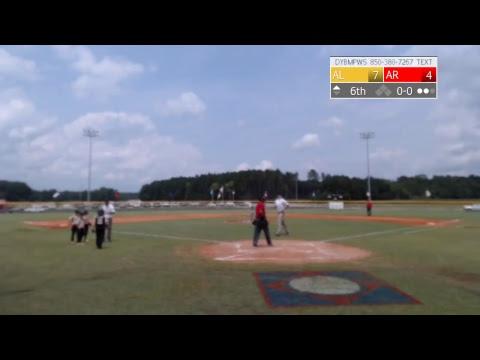 Arkansas vs  Alabama (DYB Machine Pitch WS-Consolation Bracket)