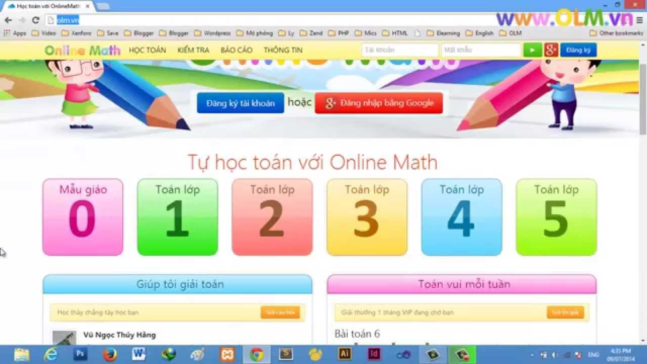Hướng dẫn đăng kí tài khoản OnlineMath - YouTube
