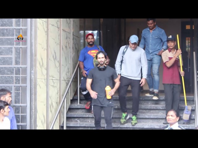 Shahid Kapoor spotted at I Think fitness juhu
