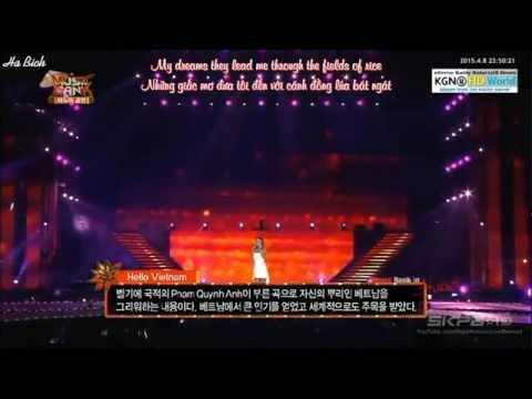 [Vietsub - Lyric] Hello Vietnam - Sistar Hyorin @ Music Bank in Hanoi
