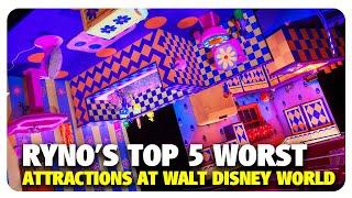 Ryno's TOP 5 WORST Walt Disney World Attractions   Best and Worst   09/19/19