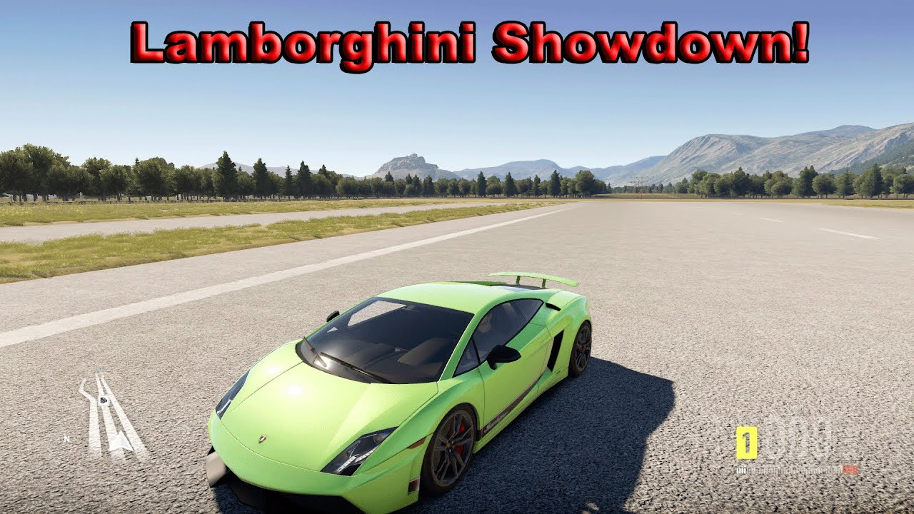 forza horizon 2 lamborghini gallardo vs aventador vs murcielago vs huracan. Black Bedroom Furniture Sets. Home Design Ideas