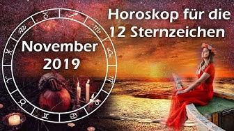 Horoskop November 2019 für die 12 Sternzeichen