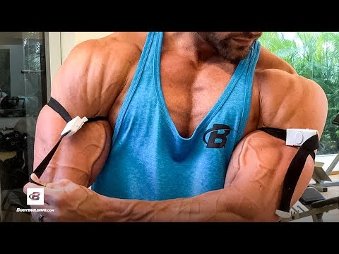 Back & Blood Flow Restriction Biceps Workout | Mike Hildebrandt