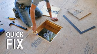 Fixing a big HOLE in the subfloor