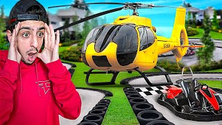 We Visited the Most EXPENSIVE House on YouTube! (Backyard Go Kart Track)