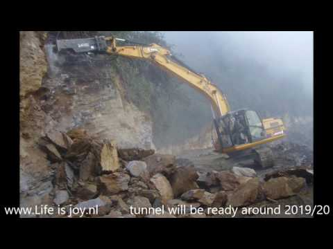 Rohtang tunnel World longest tunnel above 3000 mtr. construction in progress