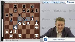 van Foreest - Nepomniachtchi, Tata Steel Masters 2019: Underdog meets tournament leader