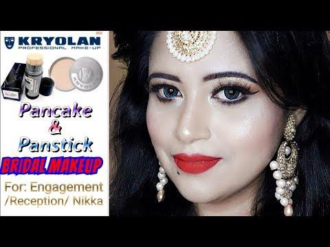 smokey-eye-red-lip-||-kryolan-pancake+-panstick-engagement-nikka-reception-bridal-makeup-look