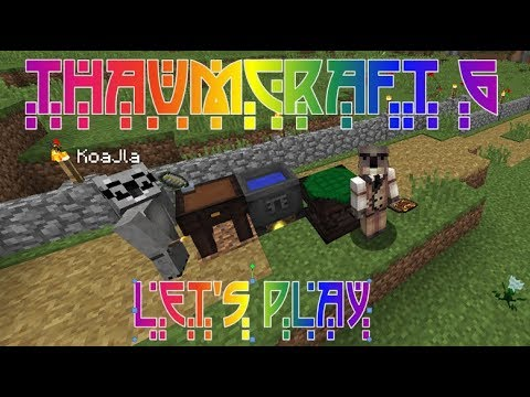 Lets Play Minecraft Thaumcraft 6 ep 7 - Making Essentia Crystals