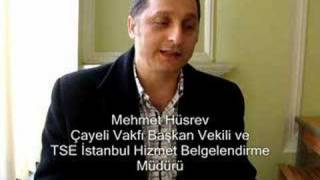 Çayeli Vakfı Başkan Vekili Mehmet Hüsrev