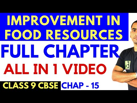 IMPROVEMENT IN FOOD RESOURCES FULL CHAPTER CLASS 9 CBSE