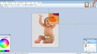 Paint.net. Урок 6 - Як вставити фото в шаблон (портфоліо)