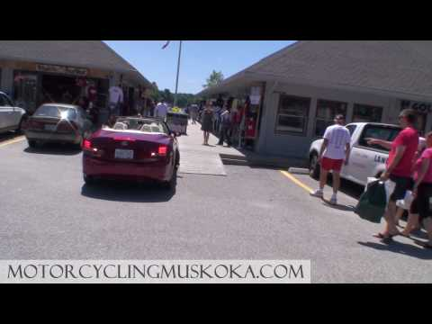 Canada Day Motorcycle Ride Touring Port Carling, Ontario.  MOTORCYCLING MUSKOKA