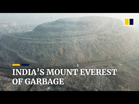 New Delhi's garbage mountain