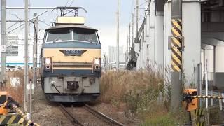 貨物列車 4072レ EF66-27 2017/12/15 矢ケ崎踏切