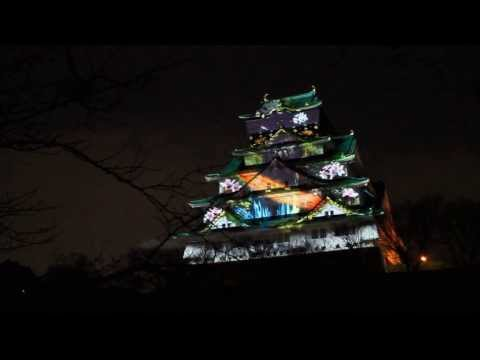 Osaka 3D mapping projection up close