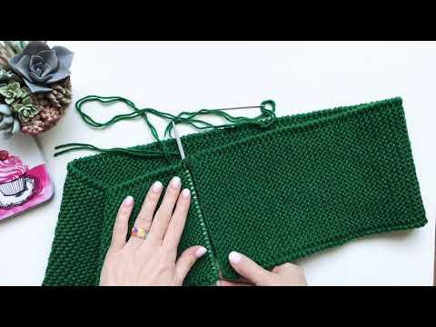 Как связать спицами два конца шарфа спицами