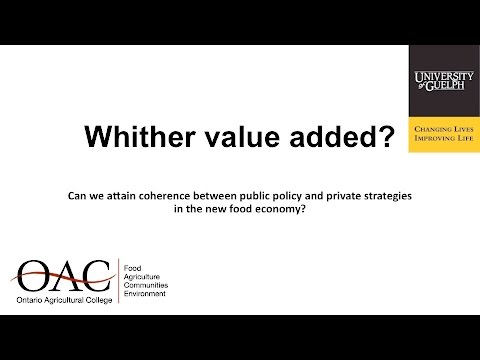 2016 CAPC - Keynote Session 3 - Whither Value Added? - Cranfield