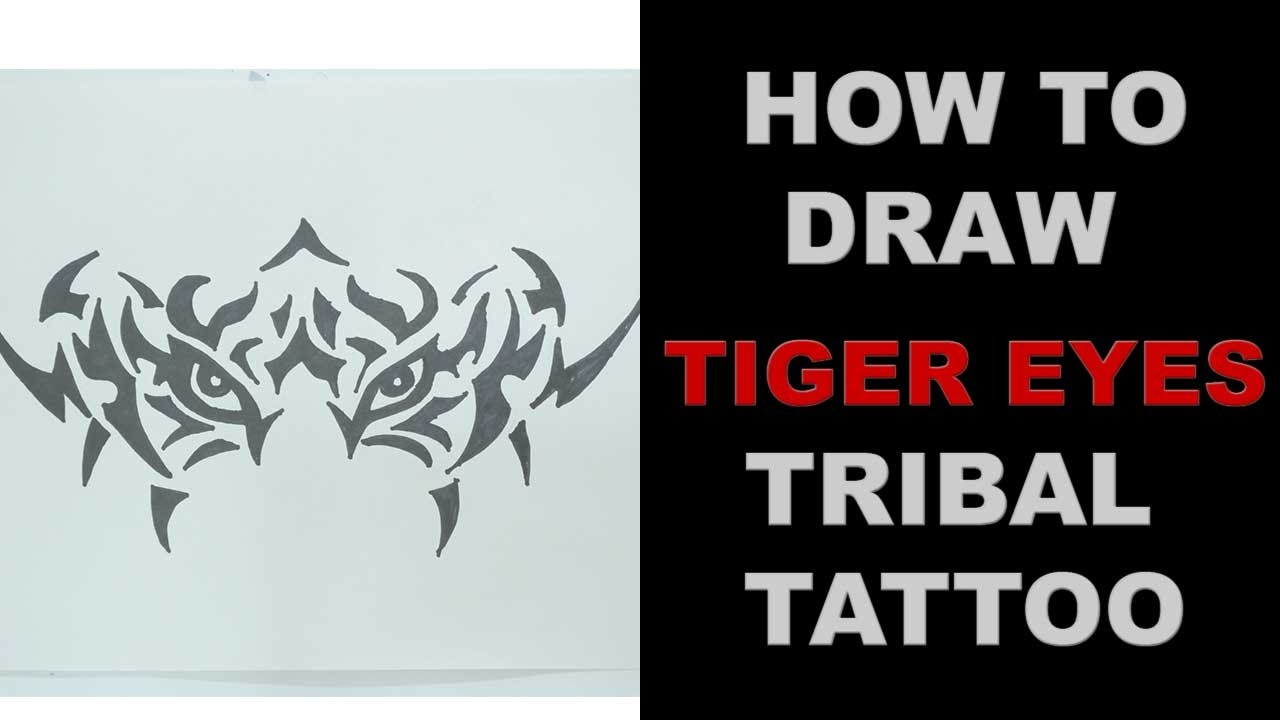 How To Draw Tiger Eyes Tribal Tattoo Design Ep 131
