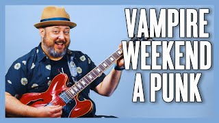 Today i'm teaching you how to play this awesome vampire weekend tune, a-punk, on electric guitar! i'll break down the riffs and chords for song. i ho...